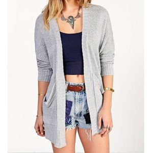 Ecote Grey Pocket Cardigan S